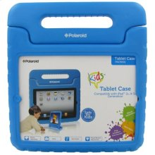 Polaroid Shock Absorbing Kids iPad 2 and iPad 3 Case with Carrying Handle, Blue - PAC9001BL