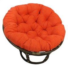 Bali 42-inch Rattan Papasan Chair with Microsuede Fabric Cushion - Walnut/Tangerine Dream