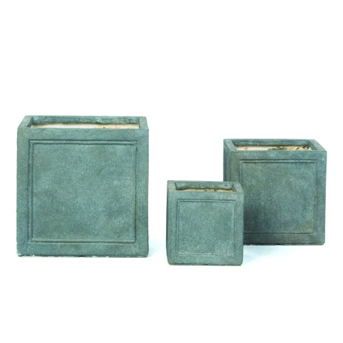 Lucca Ash Square Planter - Set of 3