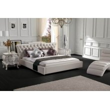 Modrest Contemporary White Leatherette Bed