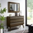 Everly Wood Frame Mirror in Walnut Product Image