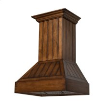 ZLINE 36 in. Shiplap Wooden Wall Mount Range Hood in Rustic Light Finish - Includes 1200 CFM Motor (349LL-36)
