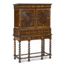 William & Mary oyster TV cabinet on stand