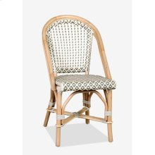 Outdoor Camelot Bistro Chair with Synthetic Wicker (white grey)-Minimum quantity 2 (17X24X35)