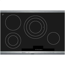 800 Series 30 Stainless Steel Electric Cooktop with SteelTouch Control and AutoChef