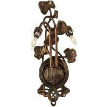 """7""""W Pond Lily 2 LT Wall Sconce Hardware"""