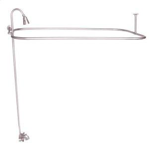 """Rectangular Shower Unit - Brushed Nickel / 48"""" x 24"""" Product Image"""