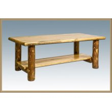 Glacier Country Log Coffee Table