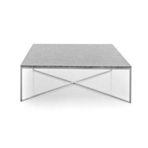 Boston Grey/White Marble End Table