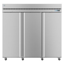 F3A-FS, Freezer, Three Section Upright, Full Stainless Doors with Lock