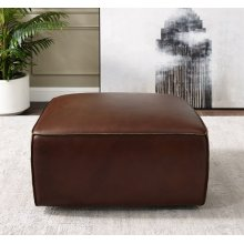 SU-AX6816-O  Leather Ottoman  Brown
