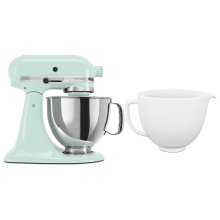 Exclusive Artisan® Series Stand Mixer & Ceramic Bowl Set - Ice