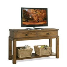 Falls Creek Console Table Chestnut finish