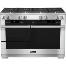 HR 1954-2 G 48 inch range Dual Fuel with M Touch controls, Moisture Plus and M Pro dual stacked burners