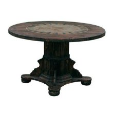 "48"" Round Ped Table W/Stone & Star"