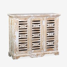 Ambon 3-Door Carved Cabinet