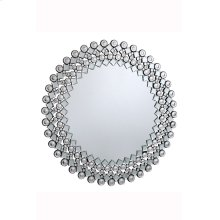 Modern 39.5 in. Contemporary Mirror in Clear