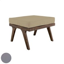 Teak Square Ottoman Cushion in Grey