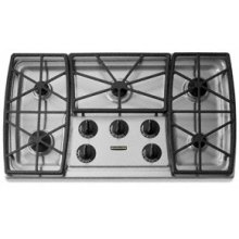 """5 Burners Stainless Steel Surface Gas 36"""" Width Architect® Series II(Stainless Steel)"""