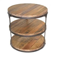 Round 3-Tier Pine Side Table