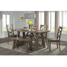 DRN1006DS  Table, 4 Chairs & 1 Bench - Renegade