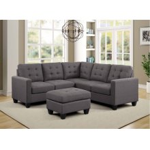 9118 Tufted Linen Fabric Sectional Sofa