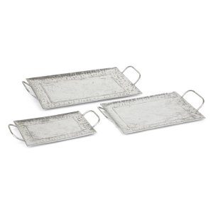 Panos Silver Trays - Set of 3