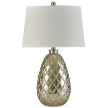 Mercury Filigree  27in Ornamental Traditional Embossed Glass Body Table Lamp  150 Watts  3-Way