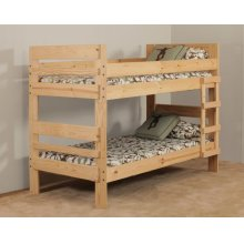 Twin/Twin Stackable Bunkbed - *Includes Headboard, Footboard, Rails and Bunkies