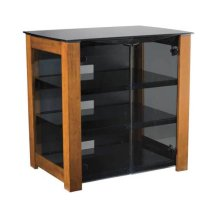 """AV Component Stand Smoked tempered-glass doors - fits AV components and TVs up to 37"""""""