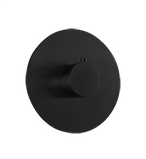 """3/4"""" Thermostatic Valve RND + LEVER - Black Product Image"""