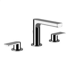 """Widespread washbasin mixer with pop-up assembly Spout projection 5"""" Height 4-5/8"""" Includes drain Max flow rate 1 Product Image"""