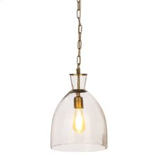 Dome Pendant with Gold Accent. 60W Max. Hardwire Only.