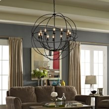 "Atom 39.5"" Chandelier in Brown"