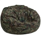 Oversized Camouflage Kids Bean Bag Chair Product Image