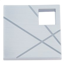 Modernist Left Square Knob 1 1/2 Inch - Brushed Nickel
