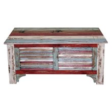 "Multi Color Louvered 39""trunk"