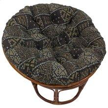 Bali 42-inch Indoor Fabric Rattan Papasan Chair - Walnut/Congo
