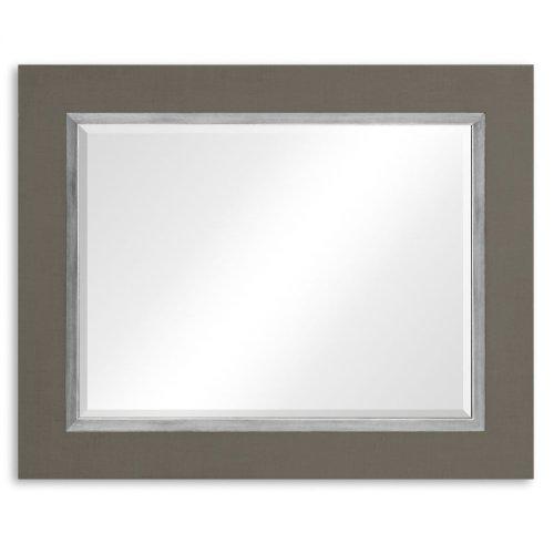 "Slate & Silver ""Homespun"" Mirror"