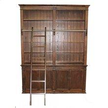 Brown Medium Bookcase with Ladder