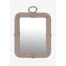 (LS) Aspen Rectangular Mirror-White Wash..