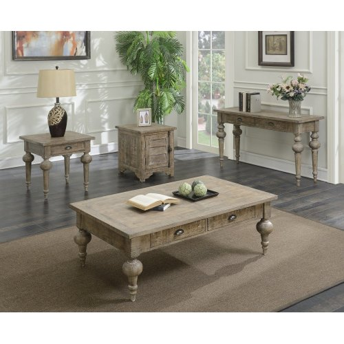 Emerald Home Interlude 4-piece Accent Table Set Sandstone Gray T560-00-05-4pcset1-k