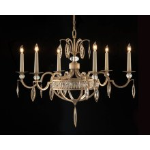Marquise Crystal Six-Light Chandelier