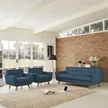 Engage Armchairs and Sofa Set of 3 in Azure