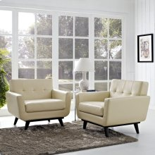 Engage Leather Sofa Set in Beige