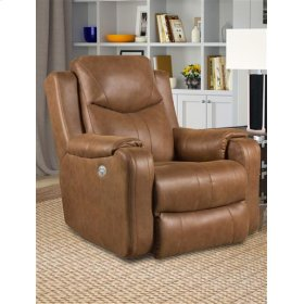 Fabric Wall Hugger Recliner with Power Headrest (available in Leather)