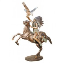 Indian on Horseback Rasing Eagle