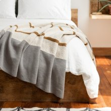 Bronze & Grey Striped Throw