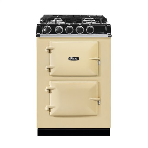 "AGA City 24"" Electric/Natural Gas Cream with Stainless Steel trim"
