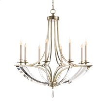 Bent-Crystal Eight-Light Chandelier